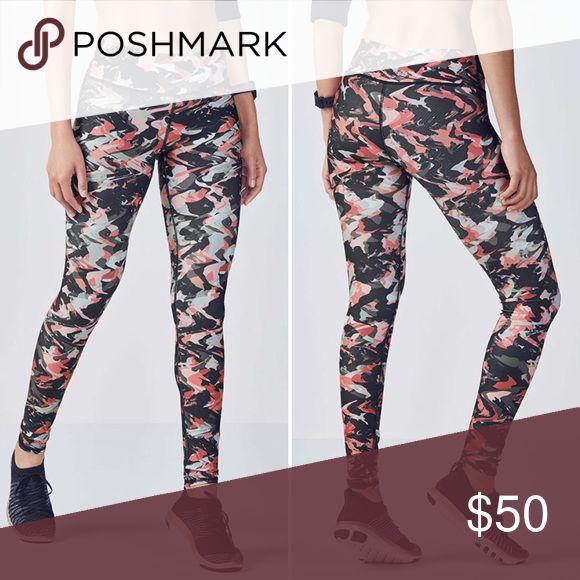 9fc9c9d77e84f9 NWT Fabletics Salar Pink Camo Powerhold Legging New with tags Salar printed  Powerhold leggings in terra