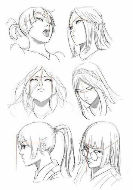35+ trendy como desenhar ângulos de rosto de anime