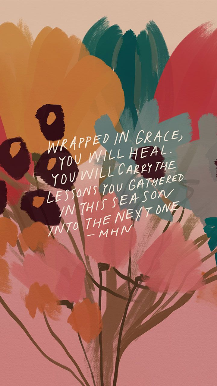 Wrapped in grace, you will heal
