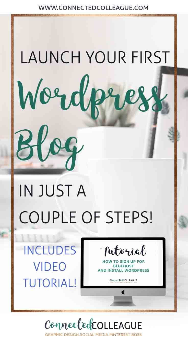 Launching your first WORDPRESS BLOG or WEBSITE.