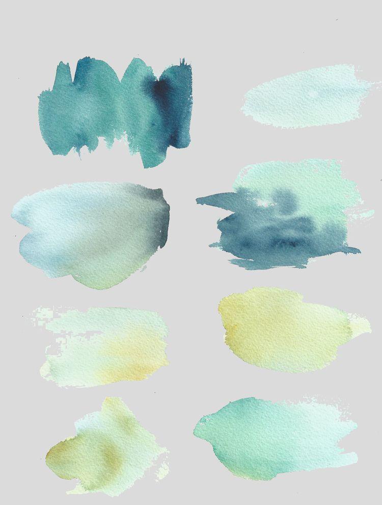Astuces et conseils pour réaliser des fonds colorés à l'aquarelle utiles pour créer des fonds d'écran, logo, contenu pour les réseaux sociaux, etc.