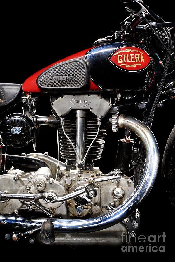 Motorcycle Photograph - Gilera Vte Quattro Bulloni Motore 1 by Frank Kletschkus