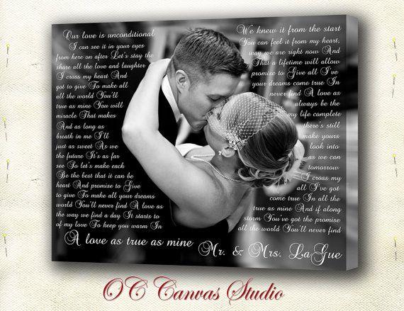 First Dance Lyrics Lyrics Canvas Print Your Photo With L