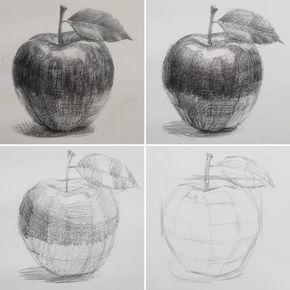 "J 맘 (desenhos alegres) no Instagram: ""연필 로 사과 그리는 과정 입니다.  기초 뎃생 과정 중에 중에 사과 그리기 시범 을 보 였는데 올려 드려요.  # 연필 스케치 # 정물 # 드로잉 # 미술 # 스케치 # 정물 스케치 # 사과 # ス ケ ッ チ # デ ッ サ ン #arte #arte # desenhando # esboço… """