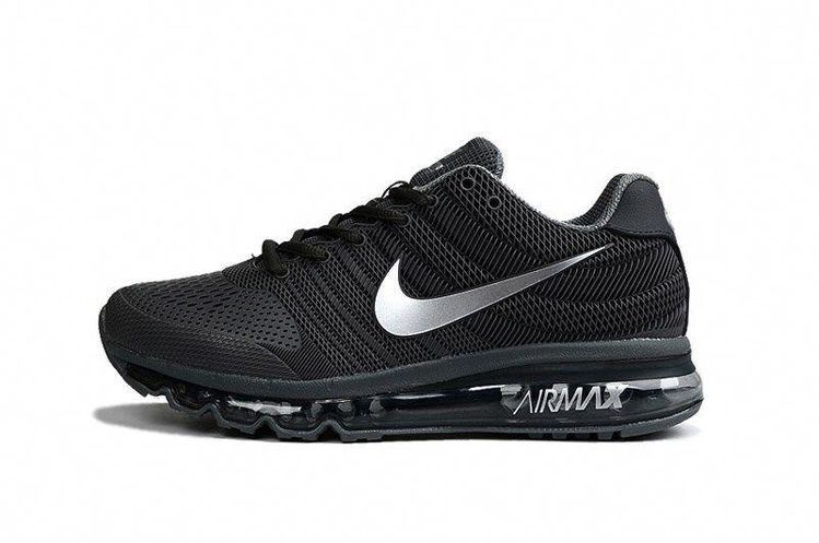 Nike Air Max 2017 Men Black Silver KPU Shoes