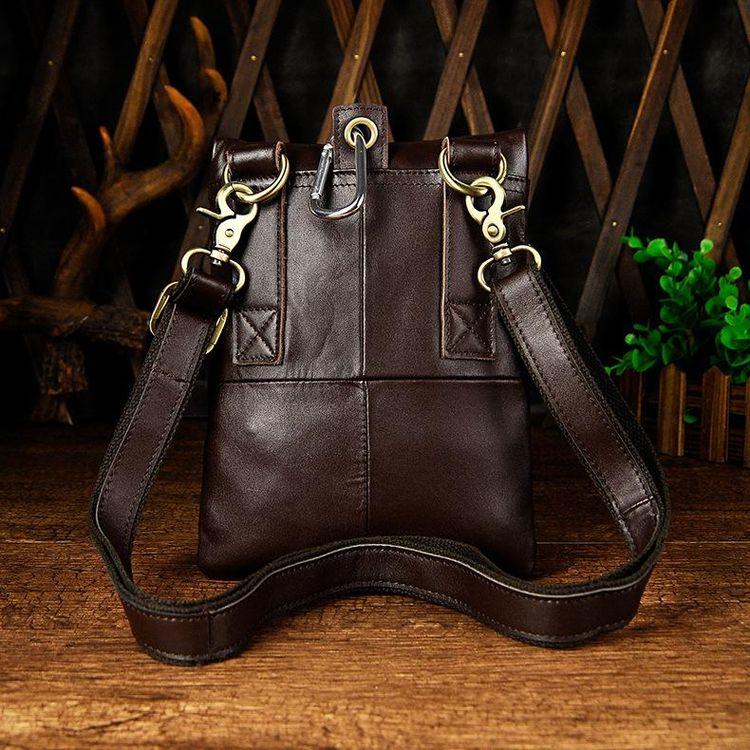 319e5011831e75 Leather Belt Pouch Mens Small Cases Waist Bag Hip Pack Belt Bag Fanny Pack  Bumbag for Men