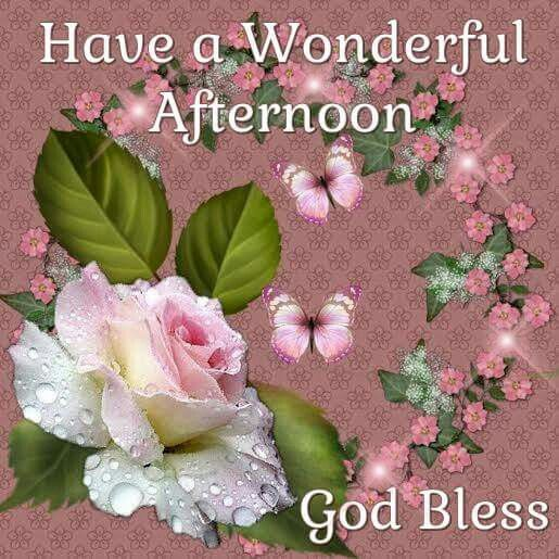 Good Afternoon Sister And All Have A Wonderful Aftenoon