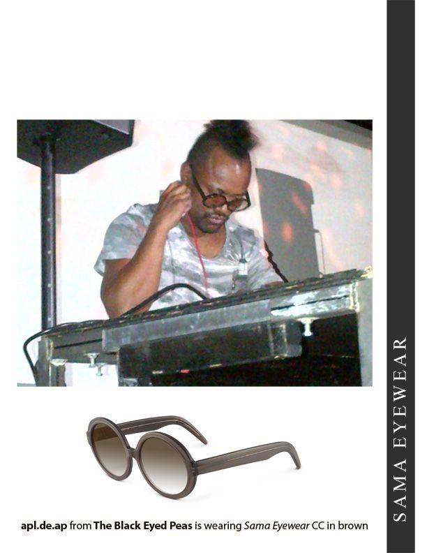 acce11531bf3 APL of Black Eyed Peas is wearing Sama Eyewear