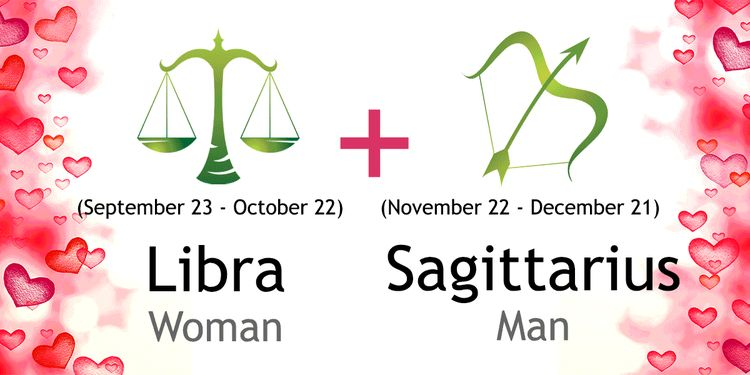 Libra Woman with Sagittarius Man Love Match Compatibility