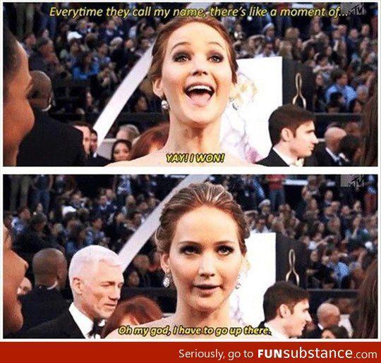 Every time she wins an award