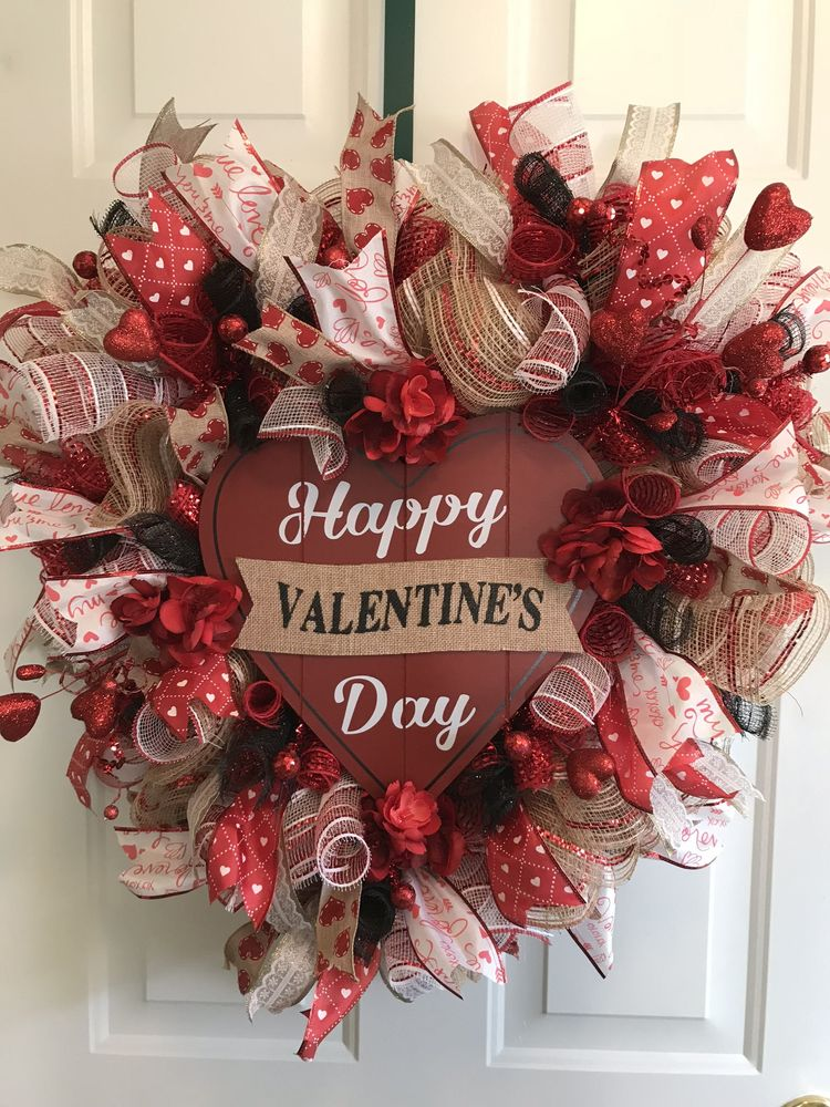 Heart Shaped Valentine S Day Wreath Valentine S Day Gift D