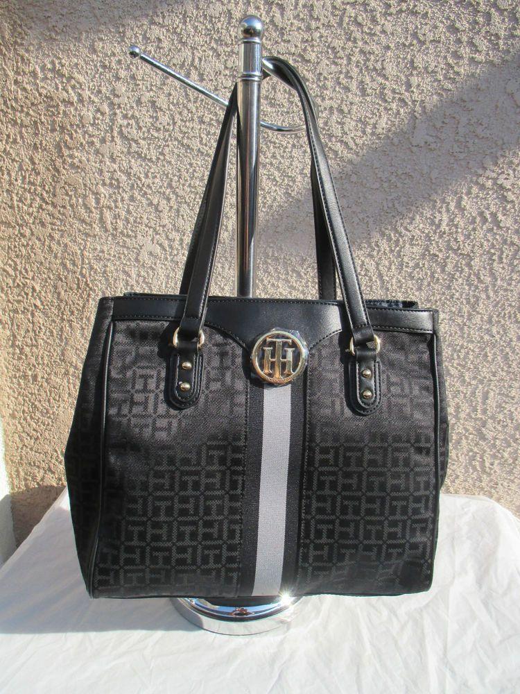 c797adafd5f Tommy Hilfiger Handbag Purse Authentic Color Black EW Tote II 69357 990 New  #TommyHilfiger #