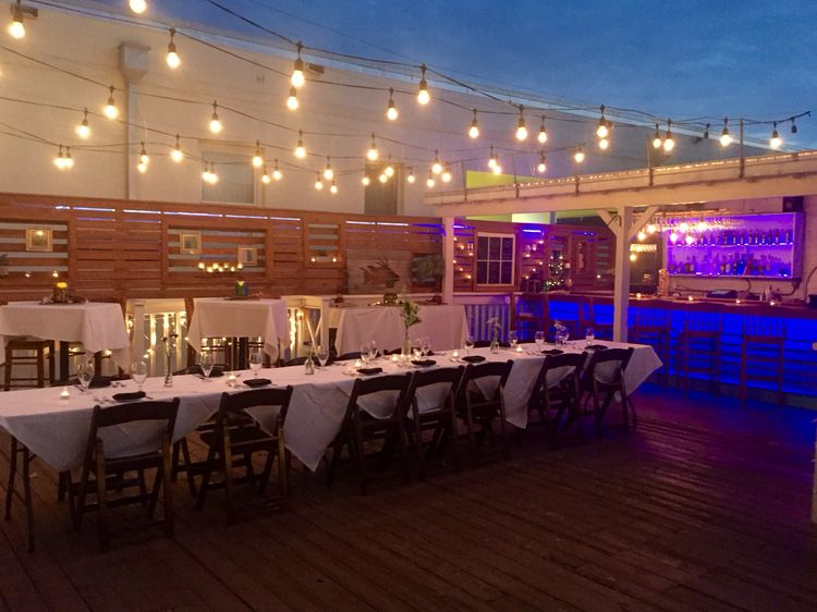 Bagatelle Key West Moon Lounge Large Dinner Party