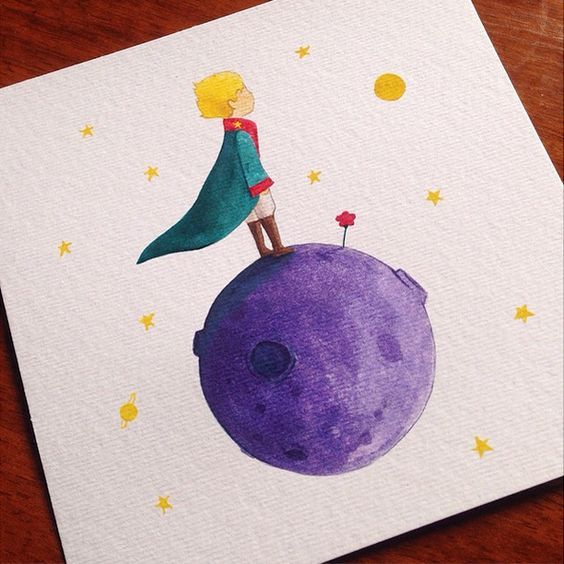 """""""Go and look again at the roses. You will understand now that yours is unique in all the world."""" So excited to see The little Prince movie :D Le petit prince Watercolor art by Bleps Dapo (@blepsc)"""