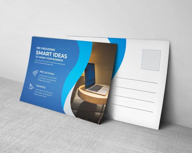 Wave Corporate Postcard Design Template - Graphic Templates