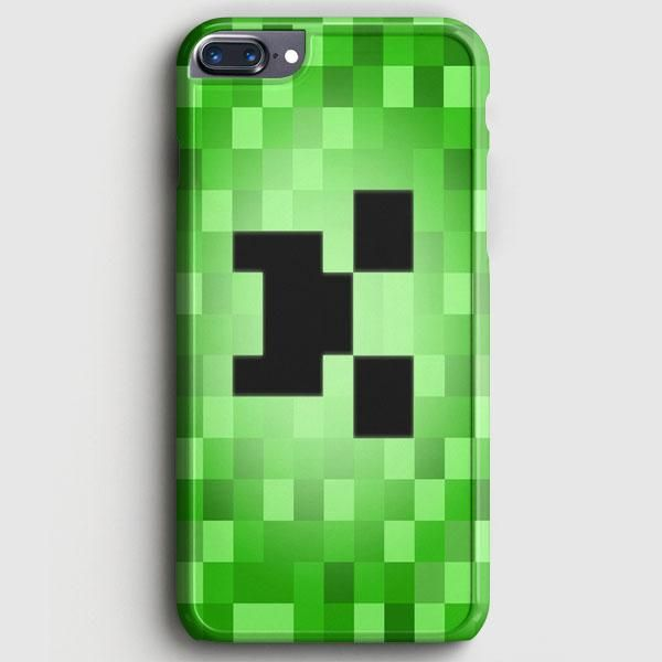Minecraft Creeper Blue Like A Boss Iphone 8 Plus Case Cas