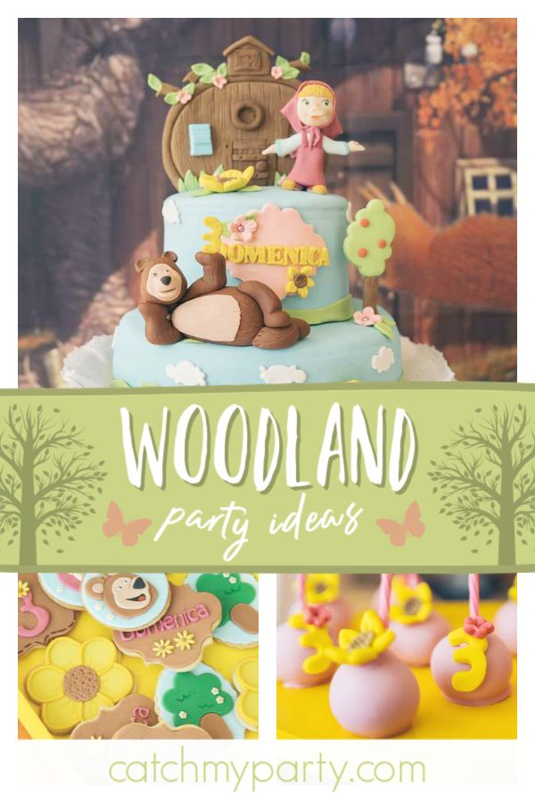 Dont Miss This Adorable Masha And The Bear Woodland Birth