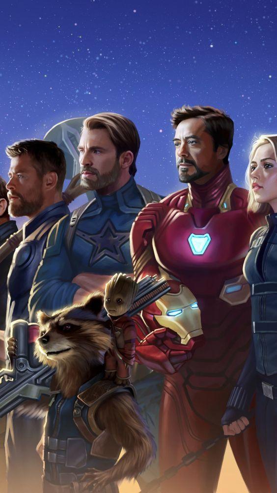 Superheros, marvel, artwork, 2018, 720x1280 wallpaper