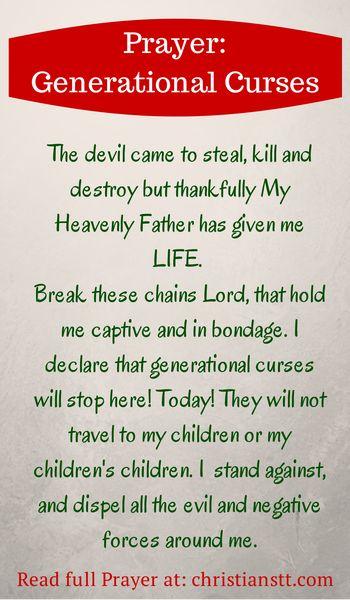 Prayer: Breaking Free from Generational Curses