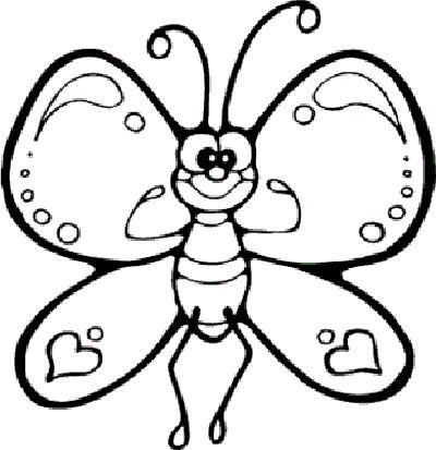 Kelebek Boyama Sayfası