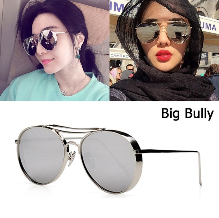 4f1b389f8b6 JackJad 2018 New Fashion Big Bully Aviation Style Sunglasses Women Men  Brand Design Thick Metal Frame
