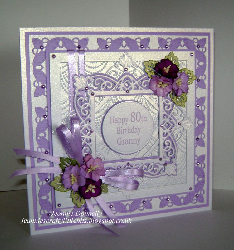 80th Birthday Card Using The New York Collection