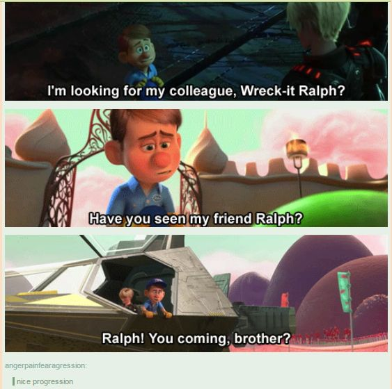 From Collegue to Brother #Wreck-it-Ralph #Felix