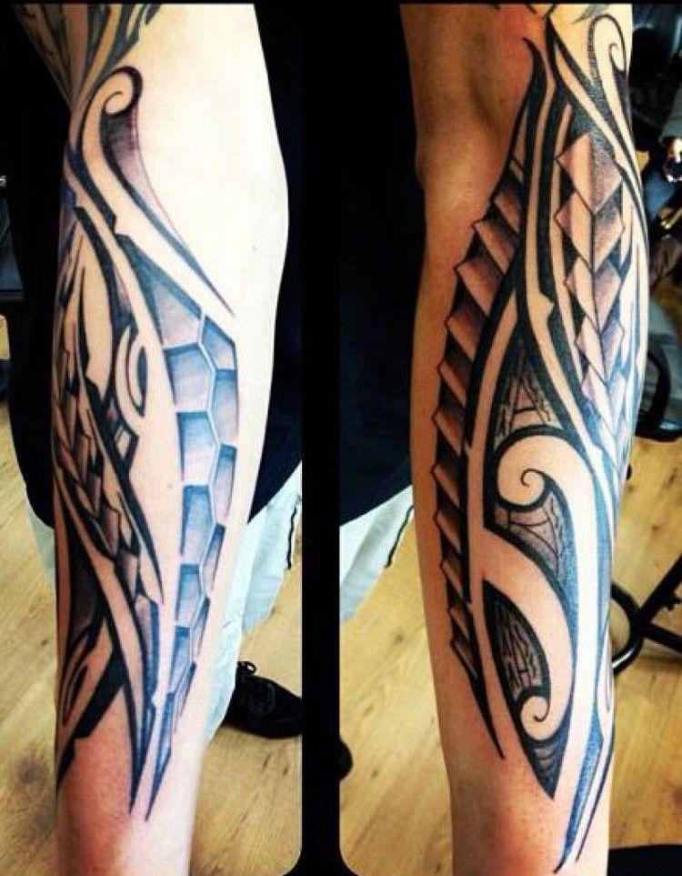 Tatouage Avant Bras Tribal Maori Homme