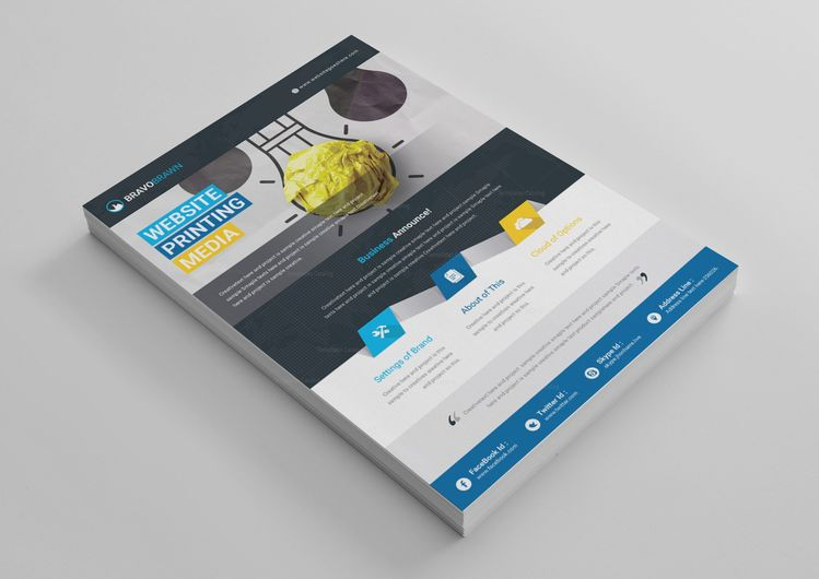 EPS Professional Business Flyer Design Template - Graphic Templates