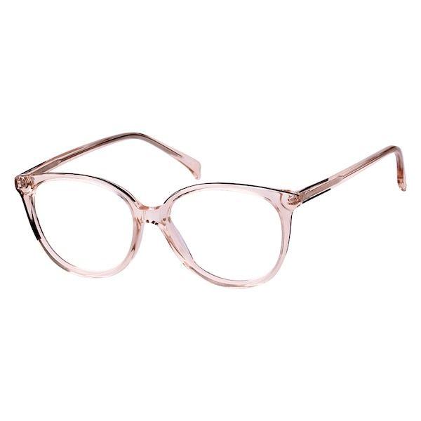 63fe6198729 Zenni Womens Cat-Eye Prescription Eyeglasses Pink Plastic 662819