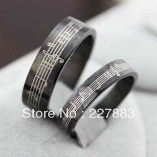 Music Rings For Women Musical Notes Ring For Men Women