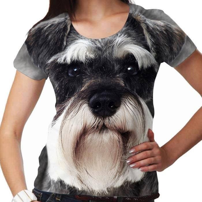 I Love My Dog Schnauzer Animal Lover T Shirt Design T: Schnauzers And Love On Pinterest