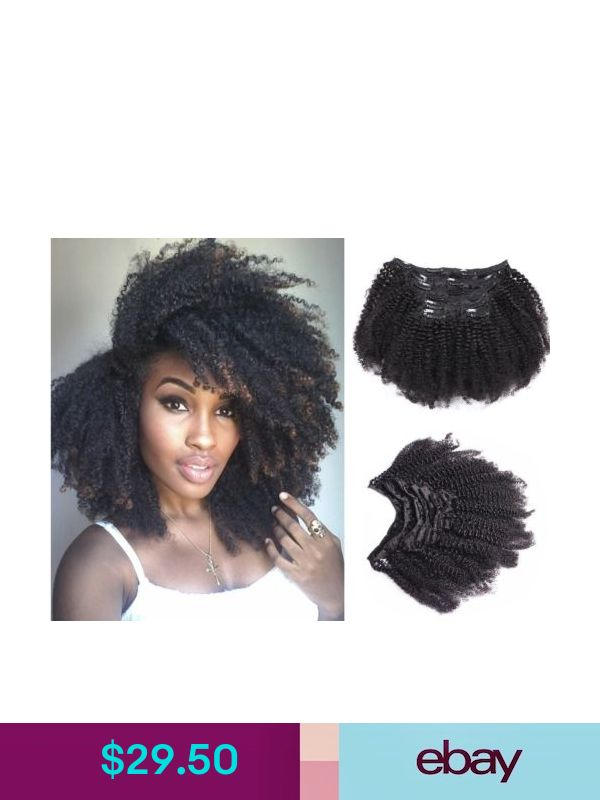 Afro Kinky Curly Remy Clip In Hair Extensions 120g10piece