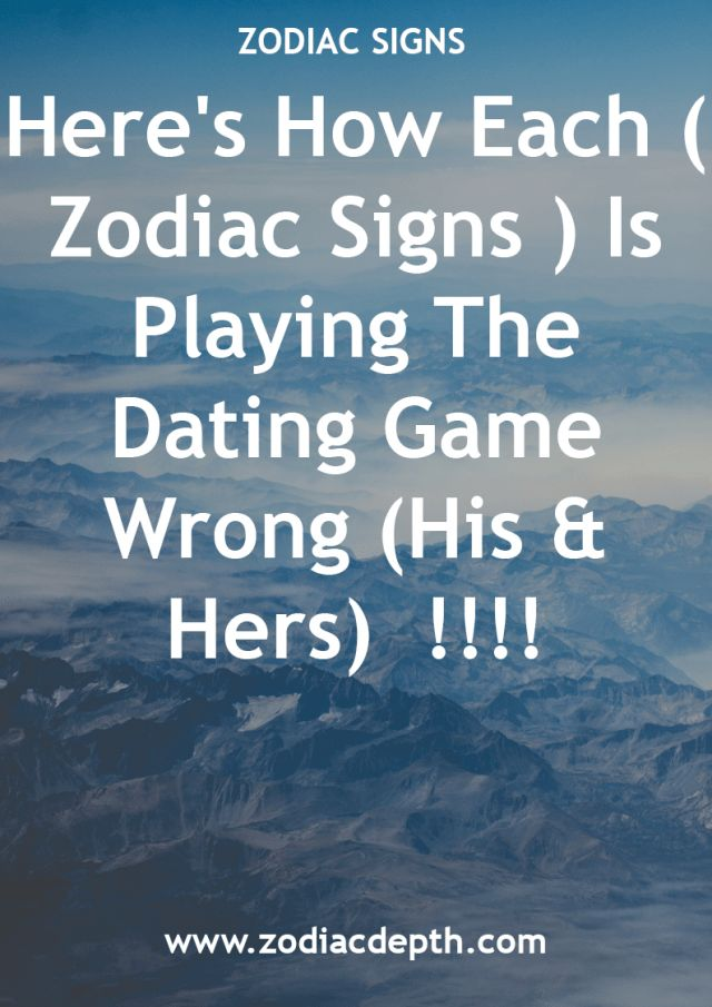 Dating water signs