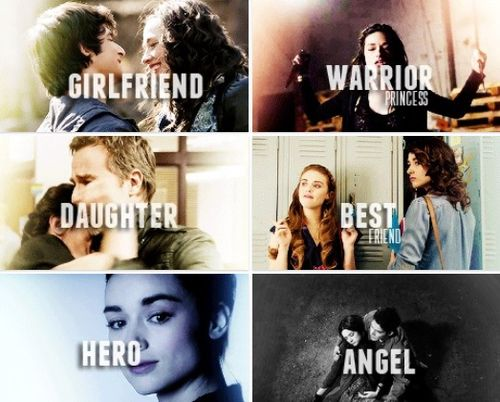 Girlfriend, warrior princess, daughter, hero, ANGEL. WHYYY WHYYY DID YOU HAVW TO DIE . IM STILL CRYING