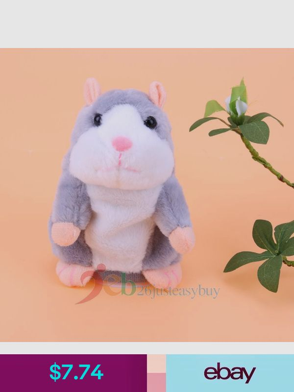 Cute Talking Hamster Mimicry Pet Plush Toys Baby Toys Kids