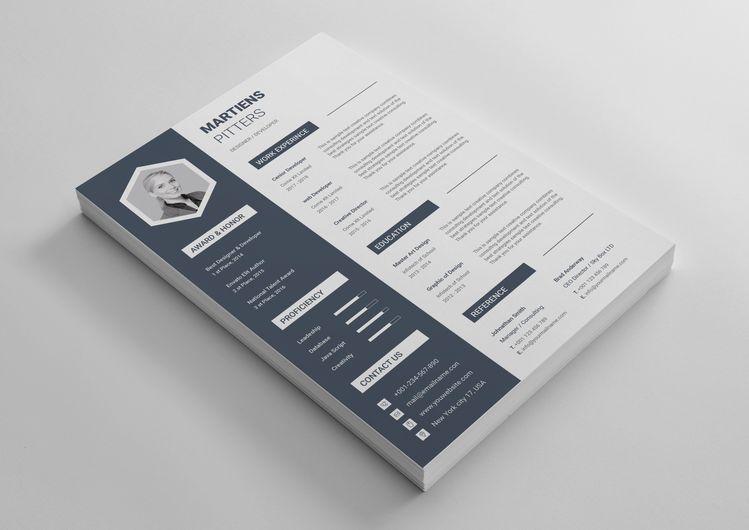 Zeus Modern Professional Resume Template - Graphic Templates