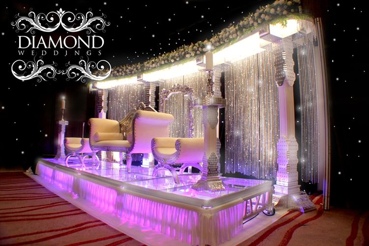Crystal Wedding Backdrop Swarovski And Stage