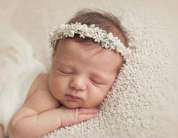 Bridal Flower Crown Wedding Hair Accessories Ivory Wreath Fl Headband Rustic Headpiece Babys Breath Style Eve