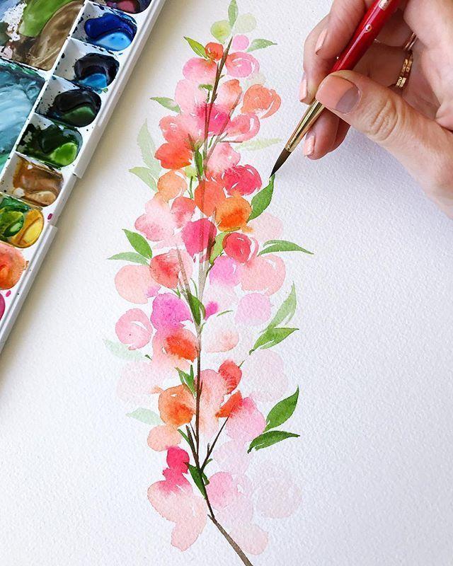 Watercolor Blumen #artwork #watercolorpainting  #watercolorartwork #worksonpaper #illustration#journal #journaling #bujo #bulletjournal