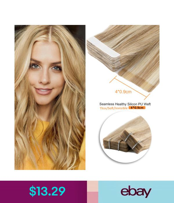 16 18 20 Tape In Remy Human Hair Extensions Straight
