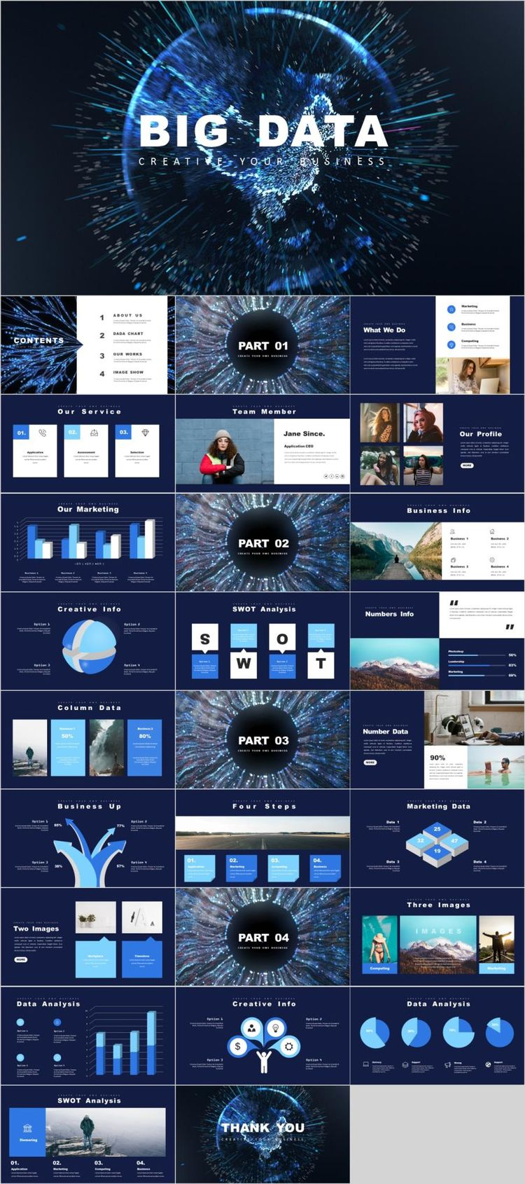 big data report powerpoint template
