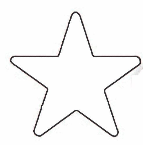 Star Stencil Template | Click on each template to enlarge and then Print.