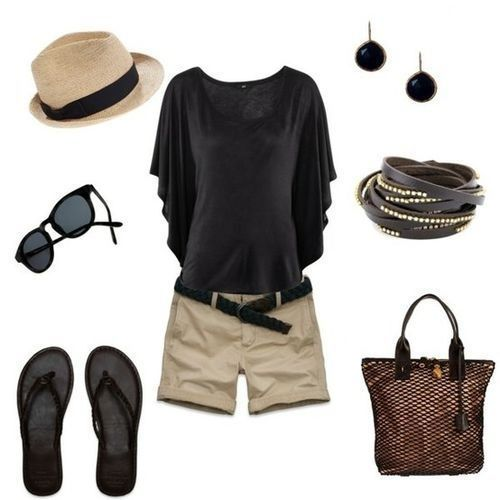 Super cute summer outfit! Classy and simple!