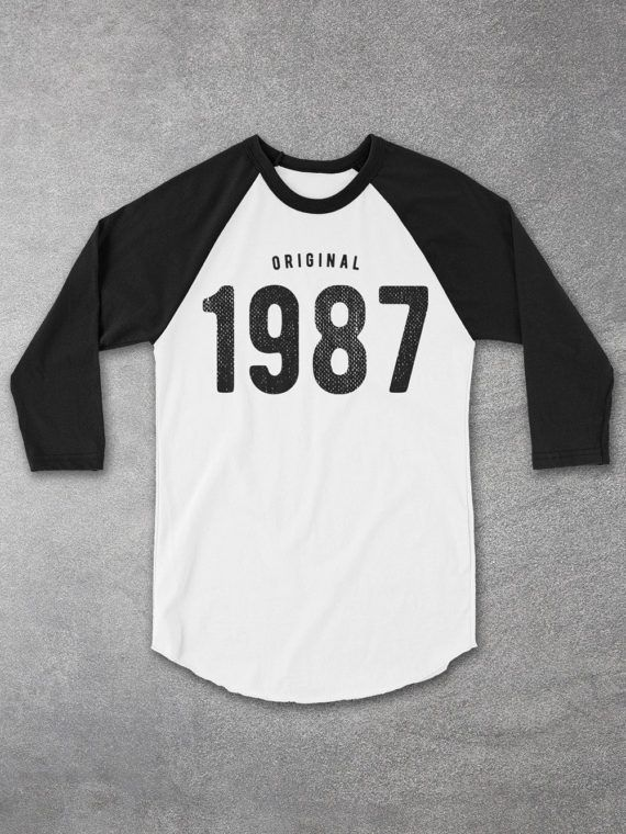 30th Birthday For Him Her 1987 Tee Baseball Raglan Shirt