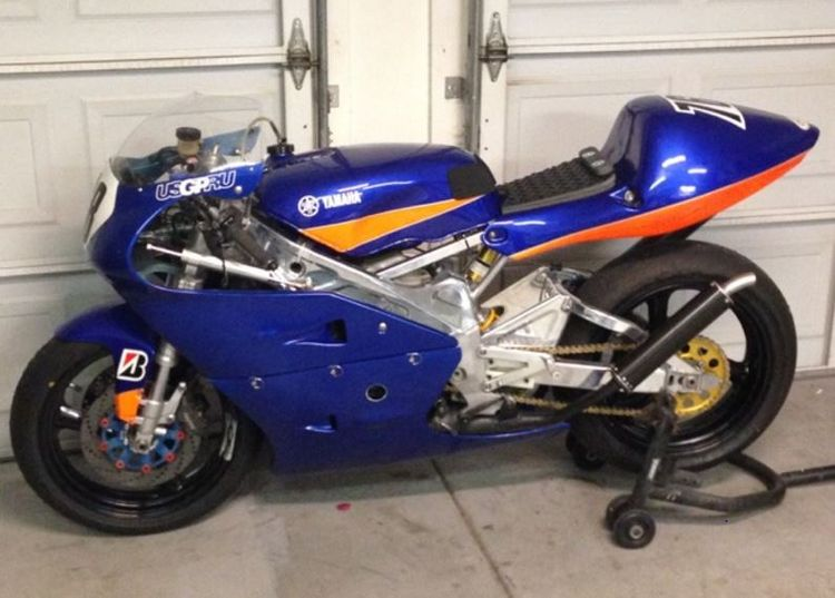 In 1991, Yamaha released a comprehensive revamp of the TZ250 – a year later came the D model with further upgrades that helped justify its popularity in privateer racing. This example was built as a backup bike for the seller's last race season and it's just about as fresh as a race bike gets.