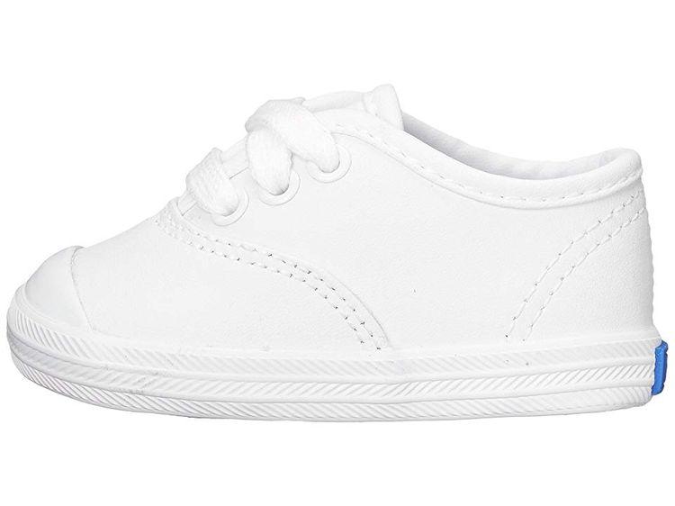 0d6ac661e0e Keds Kids Champion Lace Toe Cap 2 (Infant) Girls Shoes White Leather