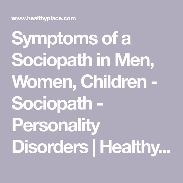 what are the symptoms of a sociopath