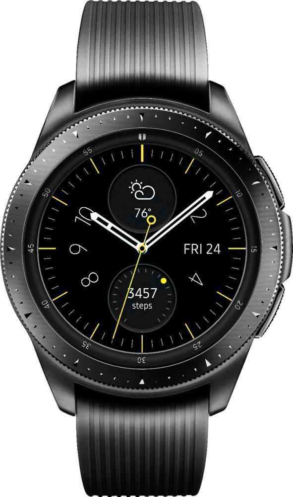 Samsung Galaxy Watch Smartwatch 42mm Stainless Steel LTE (unlocked) Midnight Black SM-R815UZKAXAR