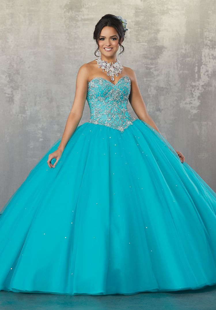 8c7fa4798d6 Beaded Strapless Quinceanera Dress by Mori Lee Vizcaya 89171